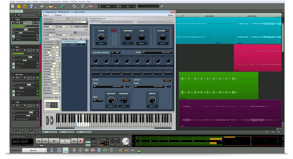 Inspiration. Kreation. Produktion. Independence ist der Sampler für Musiker, Sound-Tüftler und Produzenten.