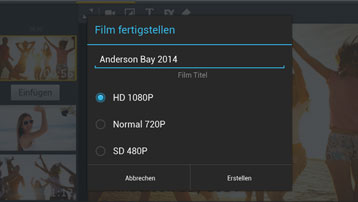 PREMIUM: Videoexport in Full HD