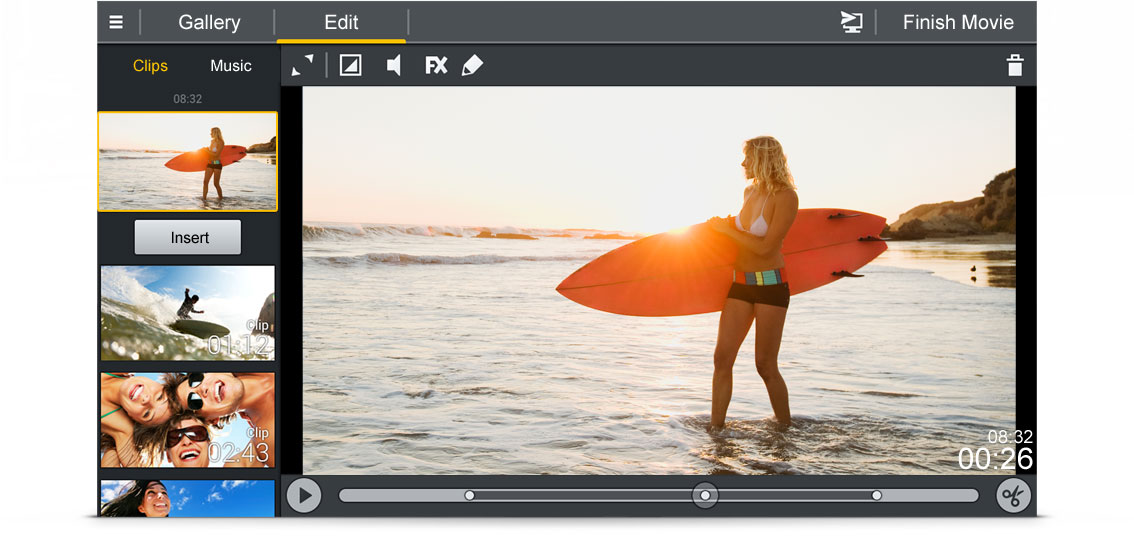 Edit and share videos wherever you are.