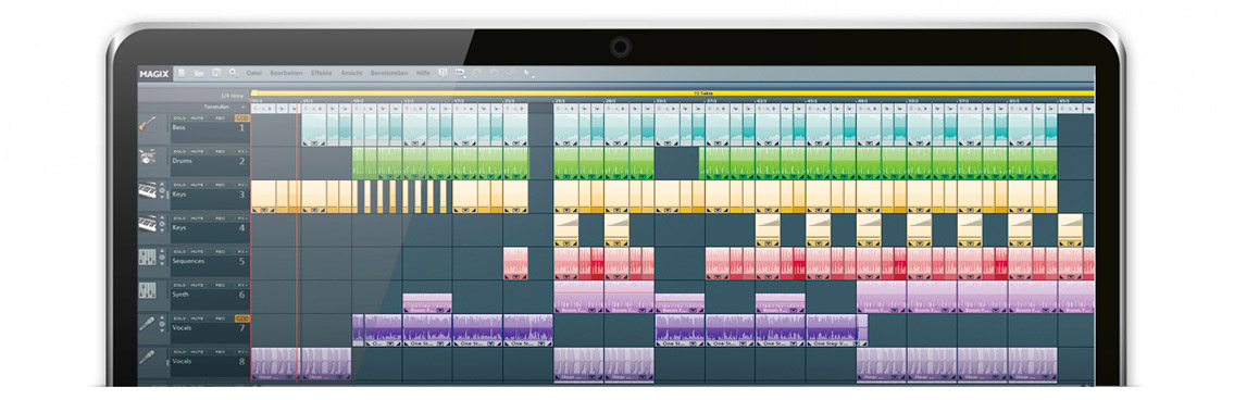 Musikproduktion mit MAGIX Music Maker und Samplitude Music Studio.