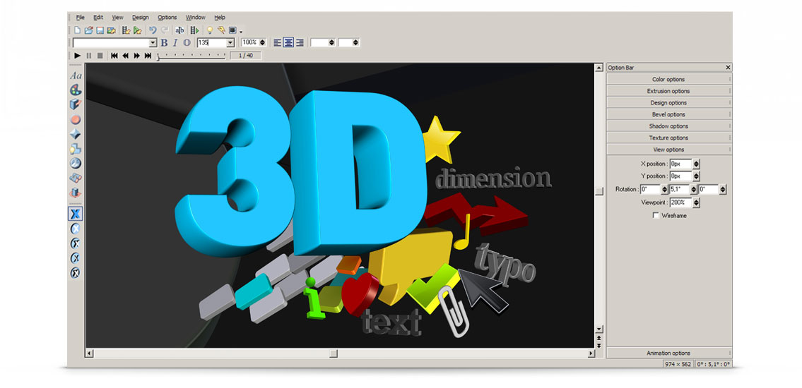 Create your 3d logo with xara 3d maker 7 3d creator free