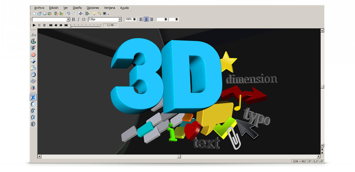 3d maker editar im genes gr ficos y logos 3d magix. Black Bedroom Furniture Sets. Home Design Ideas