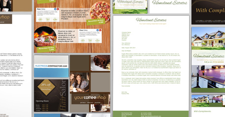 A wide range of design template sets
