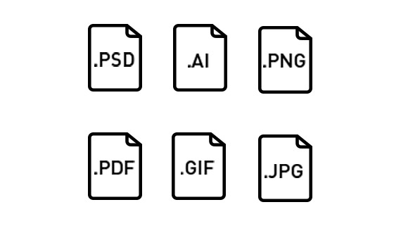Select file formats freely