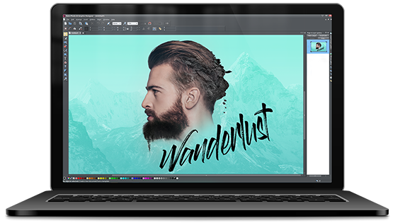 Photo editing, illustrazione & graphic design in un unico software
