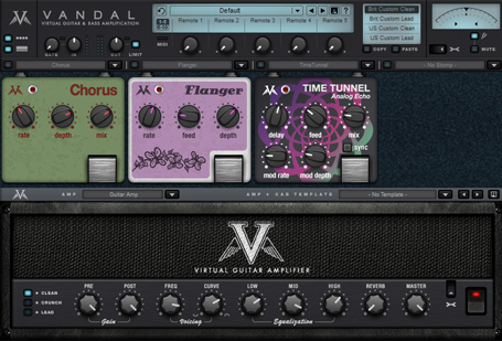 Virtual guitar amplifier