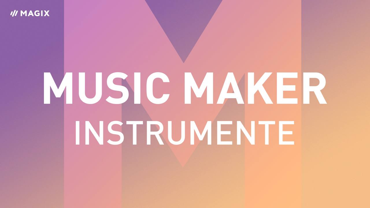 Software-Instrumente im Music Maker