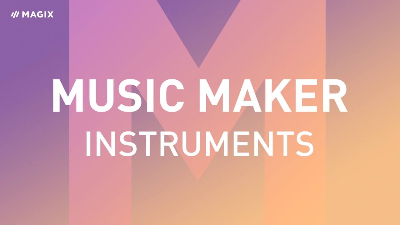 Instrumentos de software en Music Maker