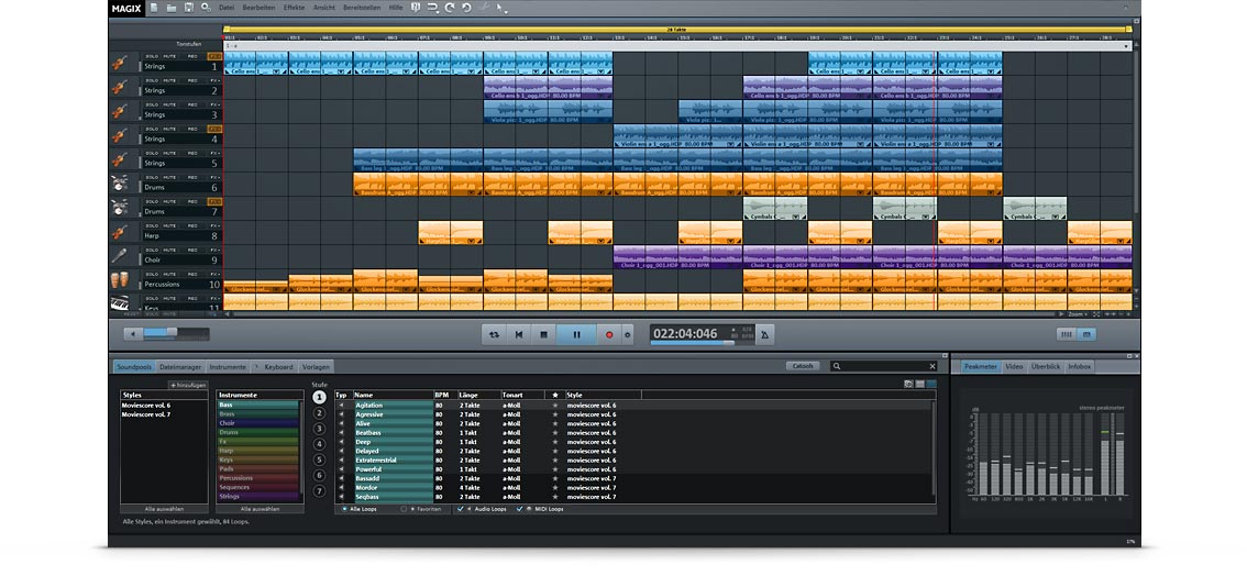 MAGIX Music Maker Movie Score Edition