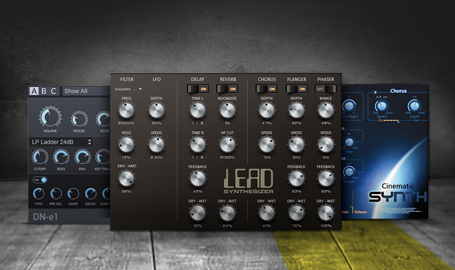4 virtuelle Synthesizer