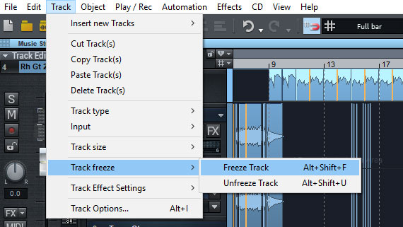 Track effects