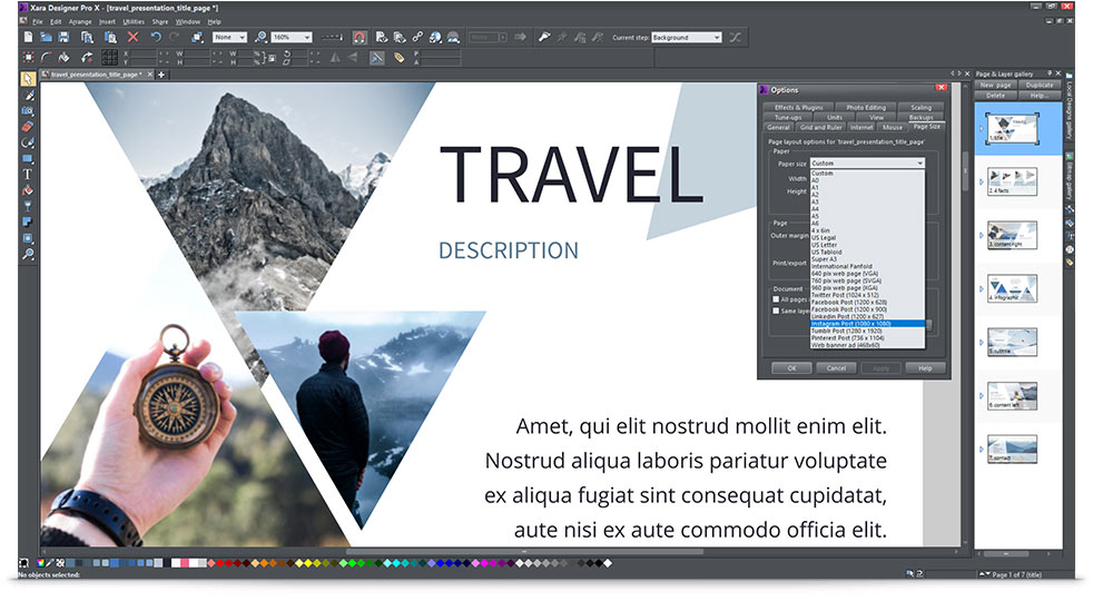 Download and test Xara Designer Pro for free