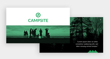 Templates for presentations - Outdoor