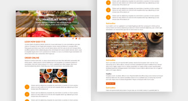 Templates for websites - Food blog