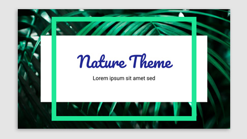 Presentation for nature topics