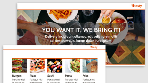 Social media for restaurants & delivery services