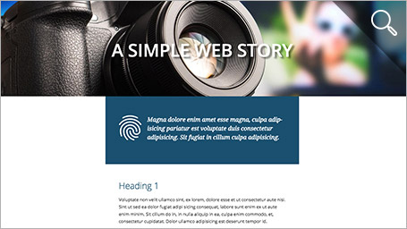 Simple Webstory