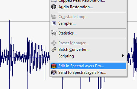 Seamlessly sync with SpectraLayers Pro