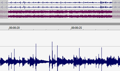 Waveform overview bar