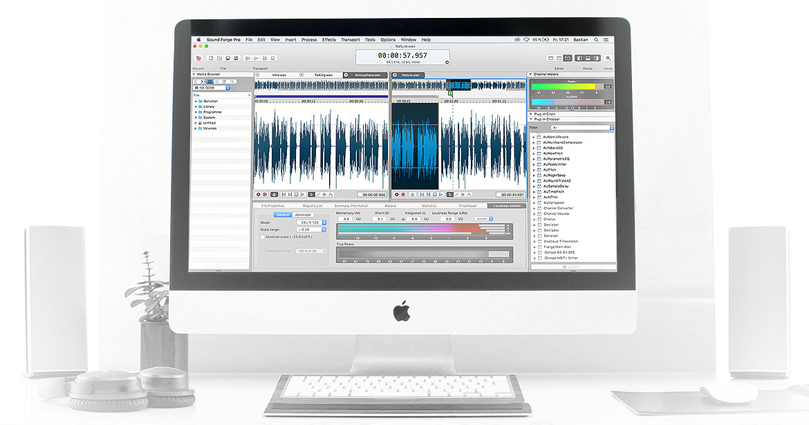 Audio Recording, Editing, Processing and Mastering for Mac OS