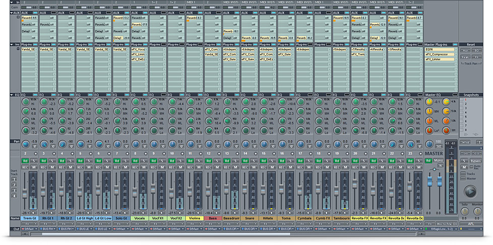 The professional music production DAW