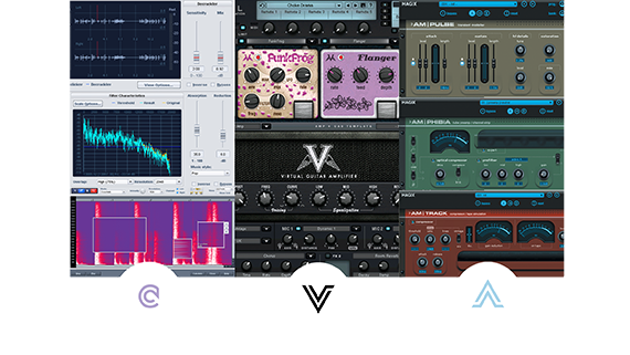 All features and plug-ins from Samplitude Pro X4 Suite