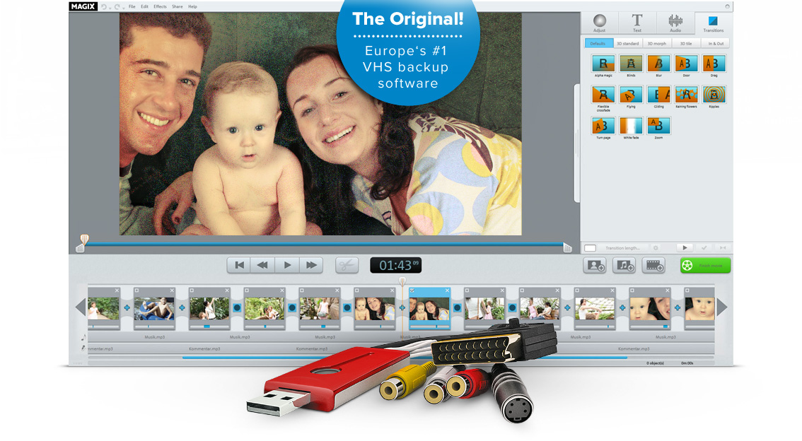 copy vhs to pc and edit your films � rescue your videotapes
