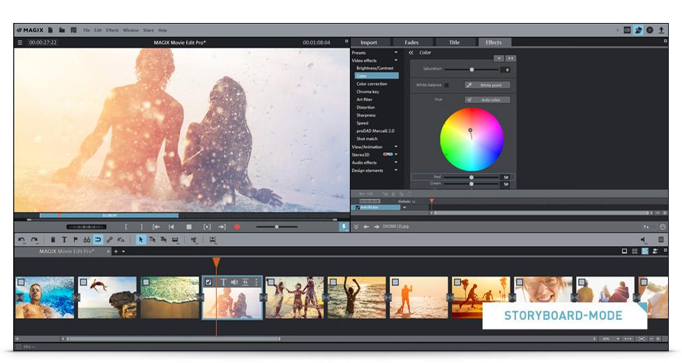 MAGIX Movie Edit Pro – Video editing