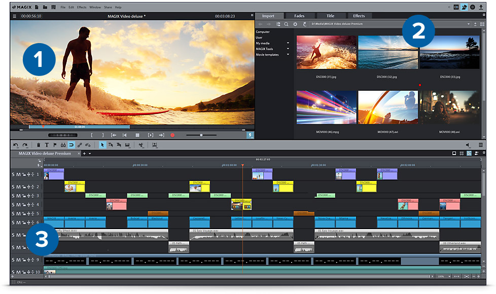 Your ticket to professional video editing