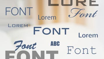 More than 600 fonts