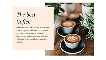Templates for websites - Café
