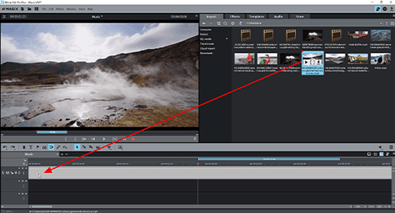 Add music to video: Video import