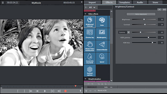 Brightness and contrast control for black & white video