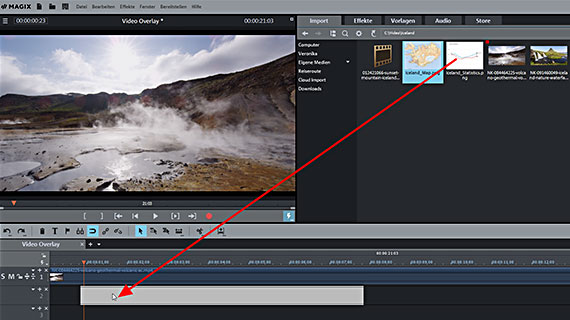 Video-Overlay per Drag & Drop laden