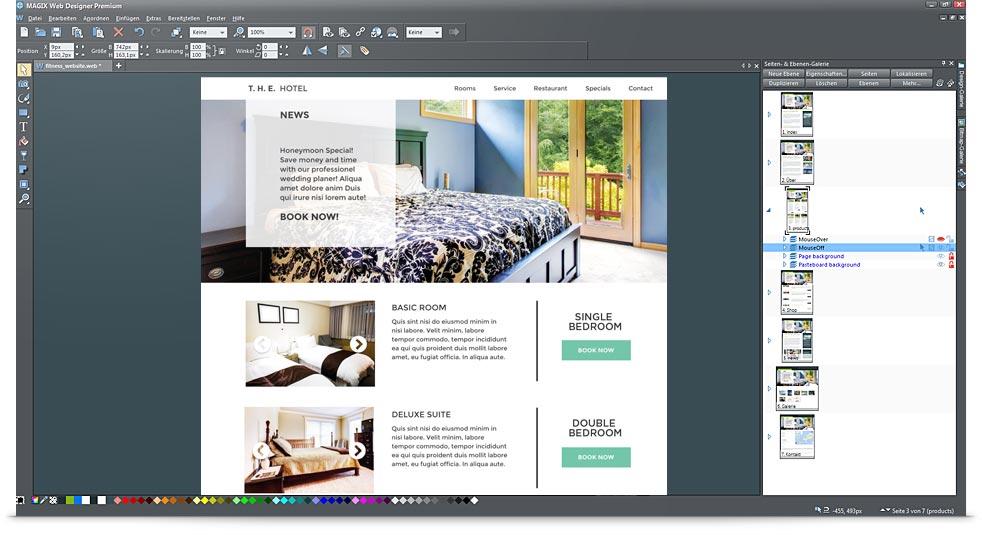 So klappt es mit der eigenen website magix for Idee site internet