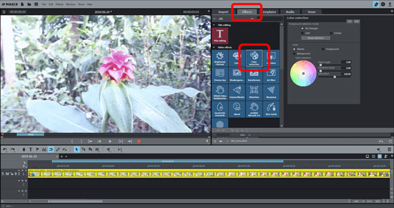 Opening color correction