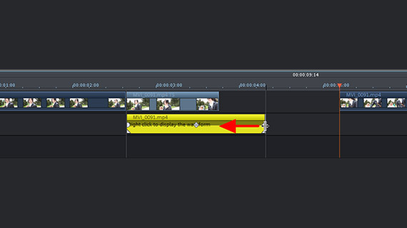 Audio track without time lapse effect