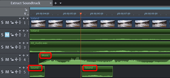 Removing audio: Multiple audio tracks