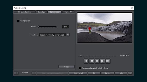 Editing audio in a video