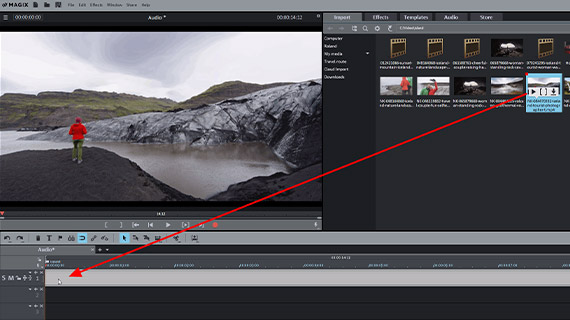Normalize audio: Video import