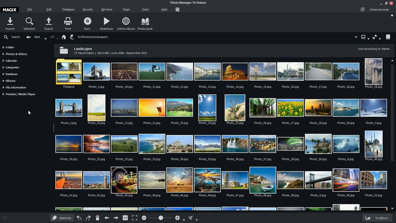 MAGIX Photo Manager screenshot