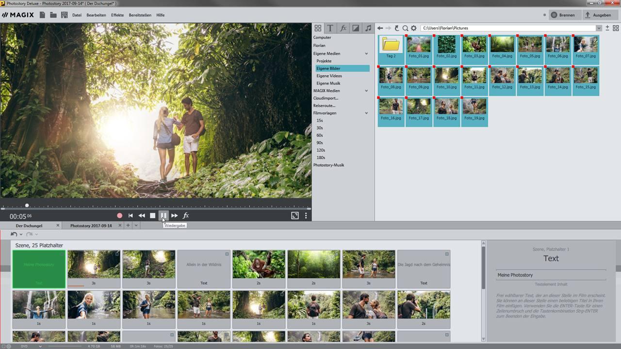Alle Tutorial-Videos zu MAGIX Photostory deluxe im Überblick