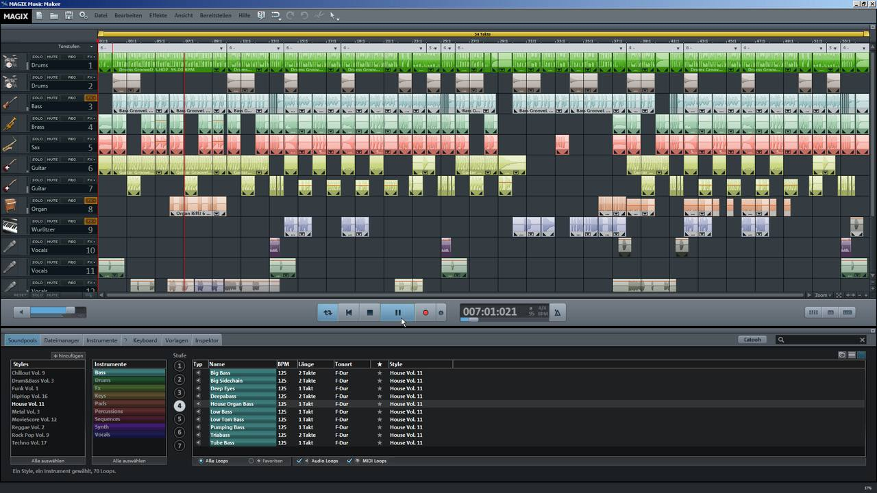 Bersicht ber alle tutorial videos zum magix music maker for House music maker