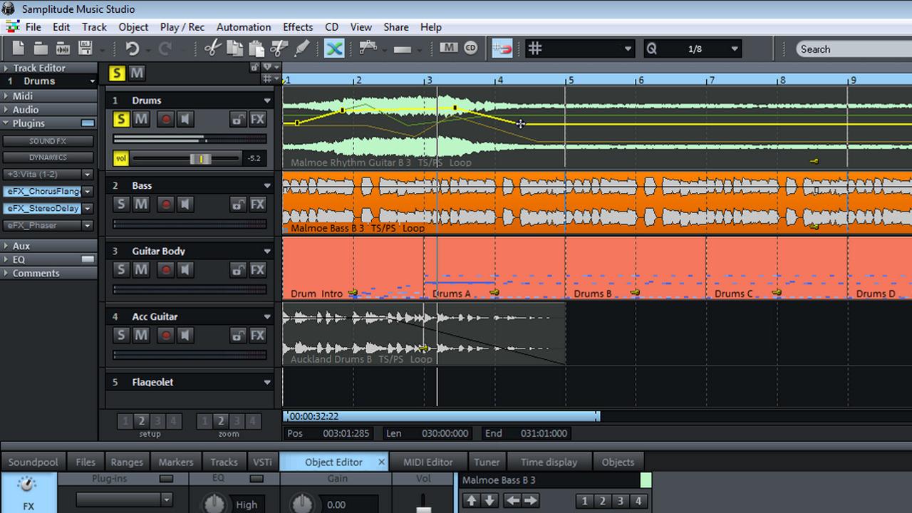 magix music maker midi editor volume