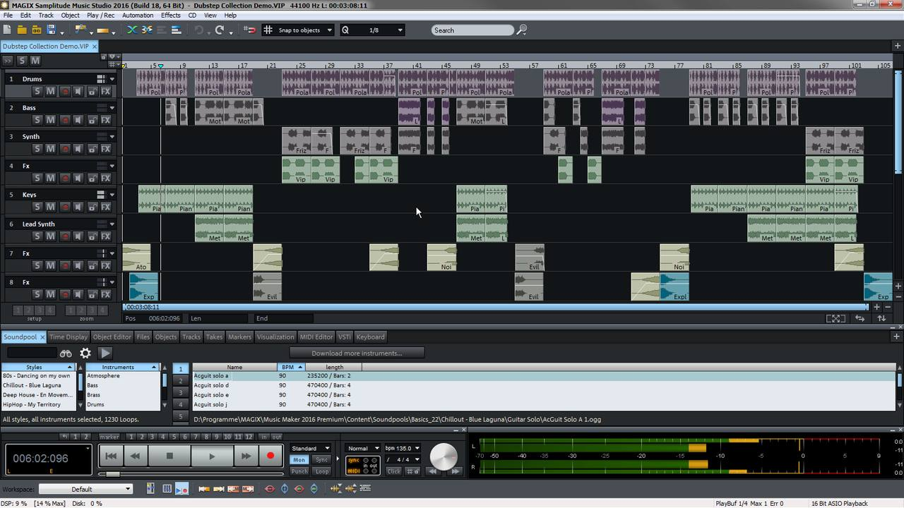 Magix samplitude music studio music studio software for Music studio design software