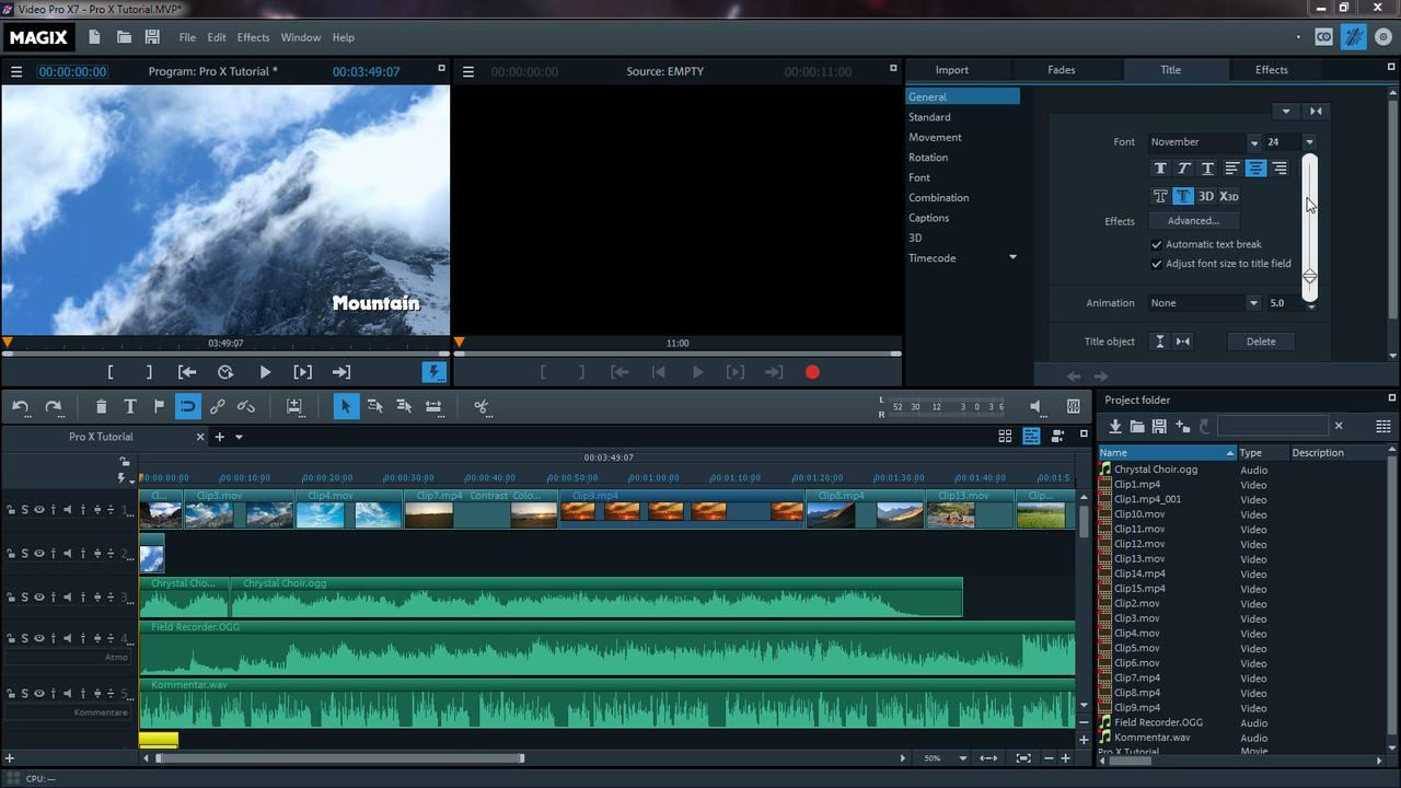 Magix Video Pro X Русификатор