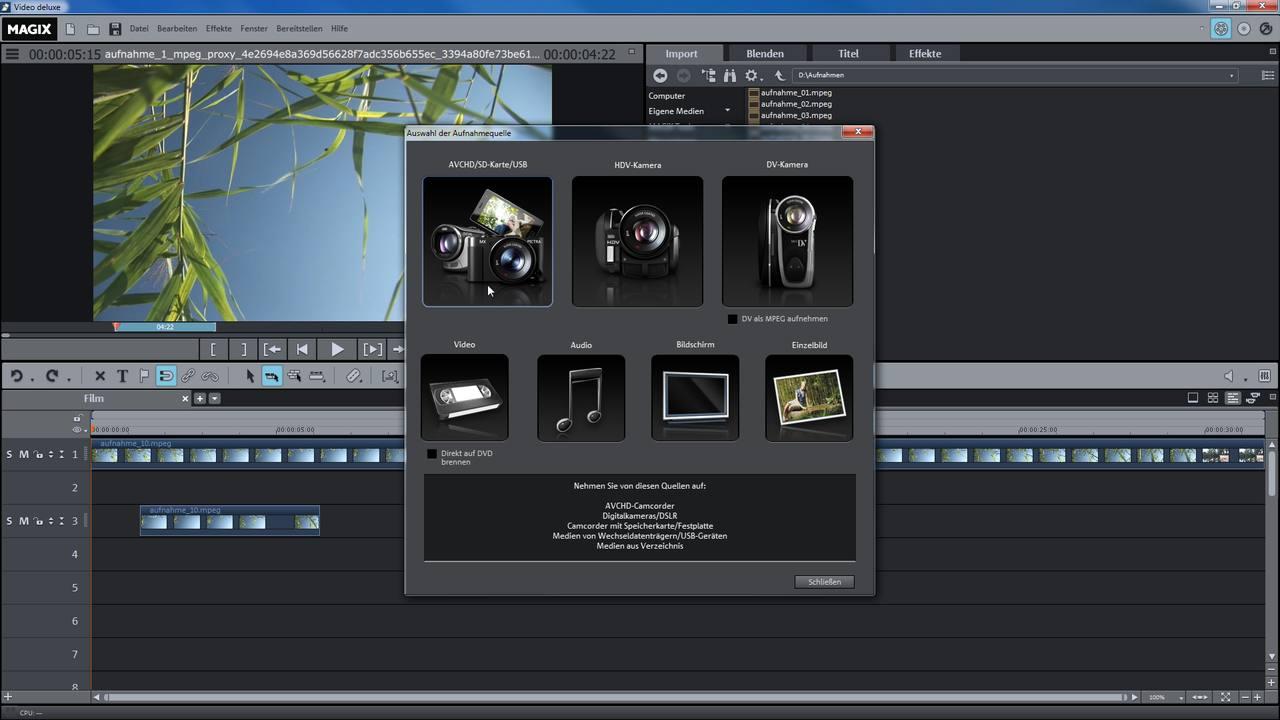 alle tutorial videos von magix video deluxe premium auf einen blick. Black Bedroom Furniture Sets. Home Design Ideas