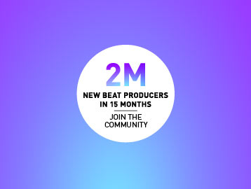 Logo for 2 million new beat producers