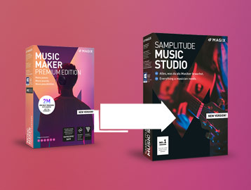 Produktboxen Samplitude und Music Maker