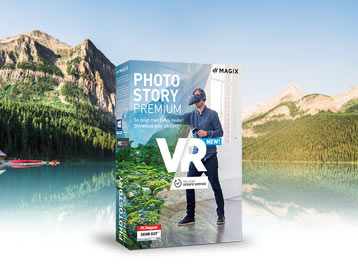 Photostory Premium VR Orderbox in front of a landscape